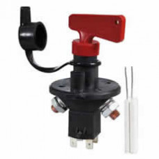 Battery Isolator with Ignition Kill Removable Key and Splashproof Cover - 100A 24V  Durite 0-605-90