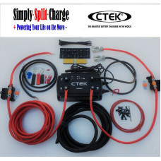 1mtr CTEK D250SE 12V 20amp Dual DC-DC Battery to Battery Charger Kit with 70amp 10mm Leads