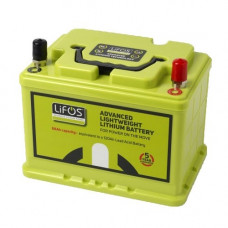 LiFos is a 68Ah deep cycle Lithium-Iron Phospate (LiFePO4) battery.