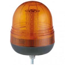Single Bolt Multifunction Amber LED Beacon - 12/24V