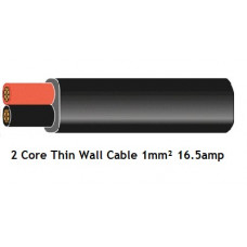 Flat Twin Core Automotive Cable 1mm 16amp (Thin Wall)