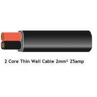 Flat Twin Core Automotive Cable 2mm 25amp (Thin Wall)