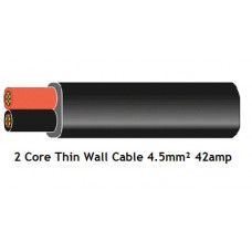 Flat Twin Core Automotive Cable 4.5mm 42amp (Thin Wall)