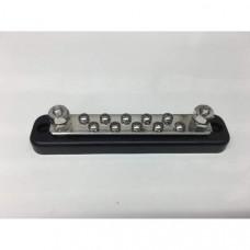Bus Bar 150amp Multi-Point earthing block 2 x 6mm studs + 10 x 4mm screws