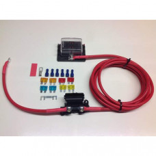 Fuse box distribution kit with ready made leads + 6-way Fuse Box