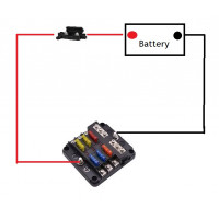 Blade Fuse box kit with Negative Bus Bar + 70amp Cable + Mixed Fuses & Terminals