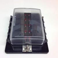 10-Way Blade Fuse Box with LED fuse failure indicator FBB10L