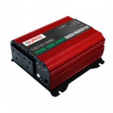 Durite 600W 12V DC to 230V AC Compact Pure Sine Wave Voltage Inverter 0-857-60