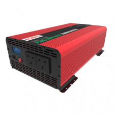 Durite 2500W 12V DC to 230V AC Compact Pure Sine Wave Voltage Inverter 085725