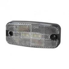 Front Marker Lamp white LED Rectangular  - 12/24V - Durite 0-170-60