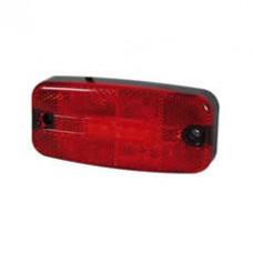 Rear Marker Lamp Red LED Rectangular  - 12/24V - Durite 0-170-65