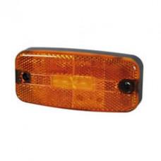 Side Marker Lamp Amber LED Rectangular  - 12/24V - Durite 0-170-70