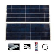 2 x 115 Watt Victron Blue Solar Panel Systems XX Without Regulator XX