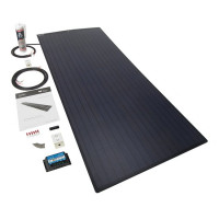 PV Logic 150 watt semi flex solar panel black with 15amp MPPT with bluetooth full Kit
