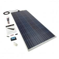 PV Logic 150 watt semi flex solar panel White with 15amp MPPT with bluetooth full Kit