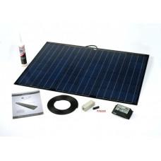 PV Logic 100 watt semi flex solar panel black with 15amp MPPT with bluetooth full Kit