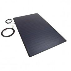 PV Logic 100 watt semi flex solar panel Black Reverse Cable Entry