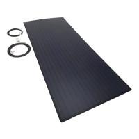 PV Logic 150 watt semi flex solar panel Black Reverse Cable Entry