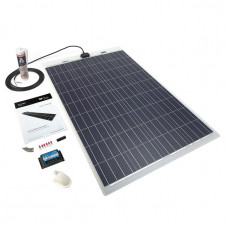 PV Logic 100 watt semi flex solar panel White with 15amp MPPT with bluetooth full Kit