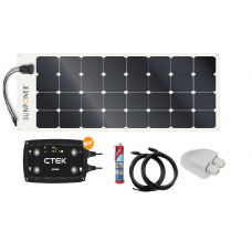 Sunpower 100w Flexible Solar Panel Systems with Ctek D250SE 20amp DCDC Charger