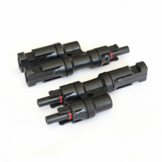 Pair MC4 2-1 Branch connectors for linking two solar panels / leads