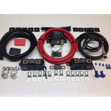 1mtr Heavy Duty Split Charge Kit with 12v 300amp Heavy Duty Relay + 300amp 40mm2 Cable