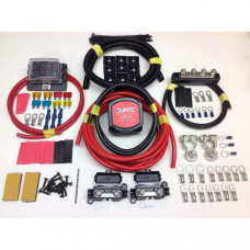 1mtr Pro Heavy Duty Split Charge Kit with 12v 140a Durite VSR + Battery Terminals + Fuse Box + Bus Bar