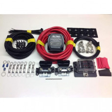 1mtr Pro Medium Duty Split Charge Kit with 12v 140a M-Power VSR + Battery Terminals + Fuse Box
