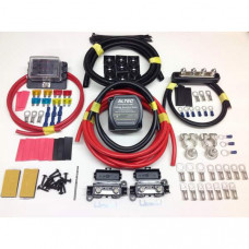 1mtr Pro Heavy Duty Split Charge Kit with 12v 140a M-Power VSR + Battery Terminals + Fuse Box