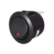 On/Off LED Round Rocker Switch - 12/24V