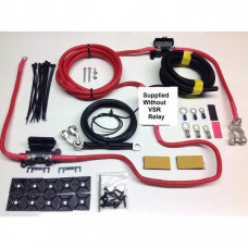 2mtr Heavy Duty Split Charge Wiring Kit without Relay supplied with 110amp 16mm2 Ready Made Leads