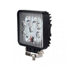 9 x 3W LED Work Lamp with 300mm Flying Lead - Black, 12V/24V, IP67 Durite 0-420-46