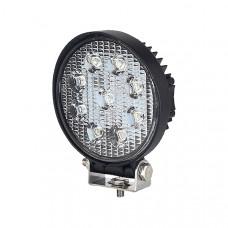 9 x 3W LED Work Lamp with 300mm Flying Lead - Black, 12V/24V, IP67 Durite 0-420-47